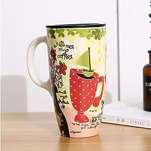 Yomiokla taza taza con tapa taza de caf grande home for Tazas de te con tapa