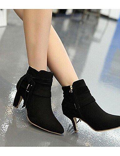 Exterior Marrón Uk6 Stiletto Eu39 us8 Botas Tacón Zapatos Ante Cn39 La Vestido Mujer Brown Moda A Negro Xzz Casual De Puntiagudos qwvZxHC