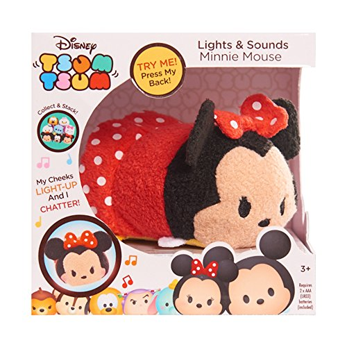 Disney Tsum Tsum Lights and Sounds Plush Figure - Minnie Mou
