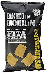 Baked In Brooklyn, Pita Chips, Garlicparm, 8 Oz