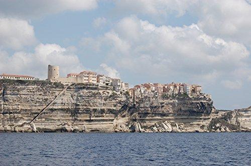 Corsican Four - Home Comforts LAMINATED POSTER Cliffs Corsican Bonifacio Poster 24x16 Adhesive Decal