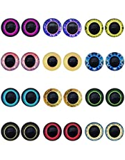 GraceAngie 6mm/8mm/10mm/12mm/15mm/18mm/20mm/25mm/30mm Mixed Color Lucky Evil Eyes Animal Doll Eyes Round Flatback Scrapbooking Dome Cabochons for Jewelry Making