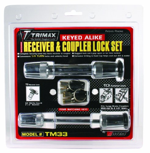 "Trimax TM33 5/8"" Receiver and 3-1/2"" Span Coupler Lock"
