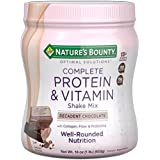 Natur's Bounty Optimal Solutions Protein Shake Chocolate, 16 Ounce Jar, Protein and Vitamin Shake Mix for Women, with Added Nutrients