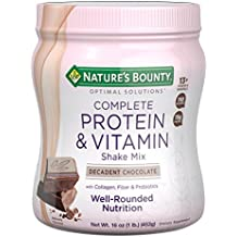 Nature's Bounty Optimal Solutions Protein Powder and Vitamin Supplement, Decadent Chocolate, 1 lb