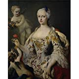 Oil painting 'Amigoni Jacopo Maria Antonia Fernanda de Borbon y Farnesio infanta de Espana Ca. 1750 ' printing on high quality polyster Canvas , 12 x 15 inch / 30 x 38 cm ,the best Wall art decor and Home gallery art and Gifts is this Best Price Art Decorative Canvas Prints