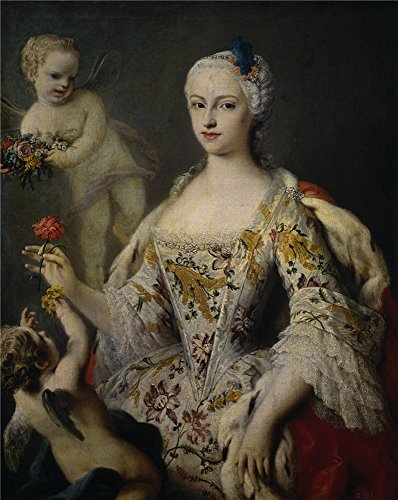 Oil Painting 'Amigoni Jacopo Maria Antonia Fernanda De Borbon Y Farnesio Infanta De Espana Ca. 1750' 24 x 30 inch / 61 x 77 cm , on High Definition HD canvas prints, Bed Room, Dining Room And decor
