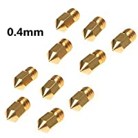 Creality 3D 10pcs MK8 Extruder 0.4mm Nozzle For 3D Printer Makerbot Creality CR-10 0.4mm Size by Creality 3D