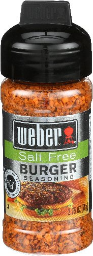 Weber Salt Free Burger Seasoning, 2.75 oz (3 (Juicy Burger)