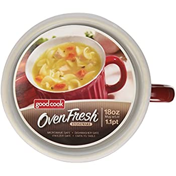 Amazon.com | Good Cook Ceramic 18 Ounce Soup Dish, Red: Oven Fresh ...