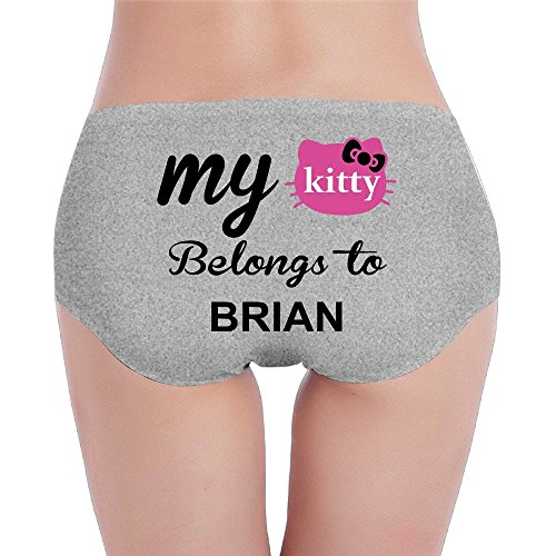 Price comparison product image My Kitty Belongs To Brian Comfortable Sexy Knickers Medium Ash For Women's Girls