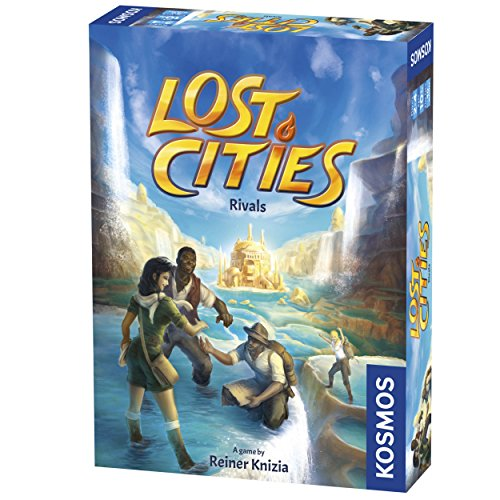 Thames & Kosmos Lost Cities: Rivals Card Game | Strategy Auction Adventure | Vibrant Colors for Two to Four Players | Family Friendly Fun by Kosmos (The City Card Game)