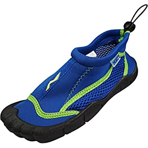 Norty - Girls Skeletoe Aqua Water Shoe, Royal, Lime 39877-3MUSLittleKid
