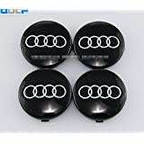 Set Of 4 pcs 60mm Wheel Center Caps Hubcaps For Audi Black by Dr Dry