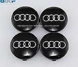 wheel center cap 60 mm - Set Of 4 pcs 60mm Wheel Center Caps Hubcaps For Audi Black