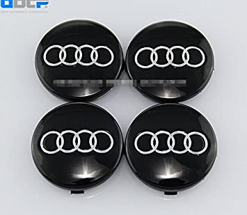 Set Of Pcs Mm Wheel Center Caps Hubcaps For Audi Black By Dr Dry - Audi wheel center caps