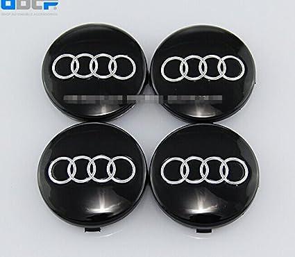 Amazon.com: Set Of 4 pcs 60mm Wheel Center Caps Hubcaps For Audi Black: Automotive