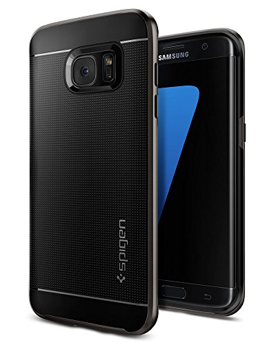 Spigen Neo Hybrid Galaxy S7 Edge Case with Flexible Inner Protection and Reinforced Hard Bumper Frame for Samsung Galaxy S7 Edge 2016 - Gunmetal