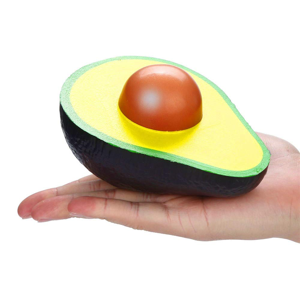 Colorful WFFO Slow Rising Squishy Toy Squishies Simulated Avocado Slow Rising Cream Scented Squeeze Stress Relief Toys for Kids Party Toys Stress Reliever Toy