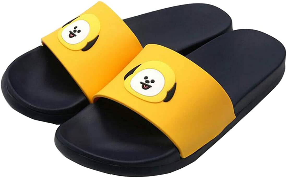 DHSPKN Kpop BTS Slippers Cartoon Jungkook Jimin Bedroom Sandals Indoor//Outdoor Shoes