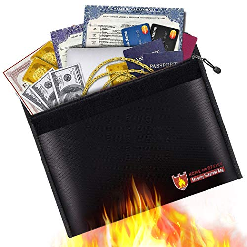 Gift Jewelry Certificate - Fireproof Document Bag, Fire Water Resistant Money Bag 15