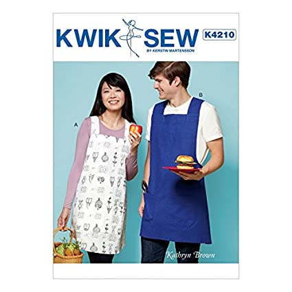 Amazon Kwik Sew Ladies Mens Easy Sewing Pattern 60 Aprons Extraordinary Mens Apron Pattern