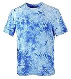 ocean blue tie dye shirt - Blue Ocean Fashion Tie-Dye T-Shirt-Large