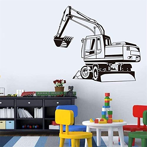 (Vinyl Decal Quote Art Wall Sticker Inspirational Quotes Big Digger Farm Mechanical Outline Transfer Decal Window Door Kids Room Stencil Factory)