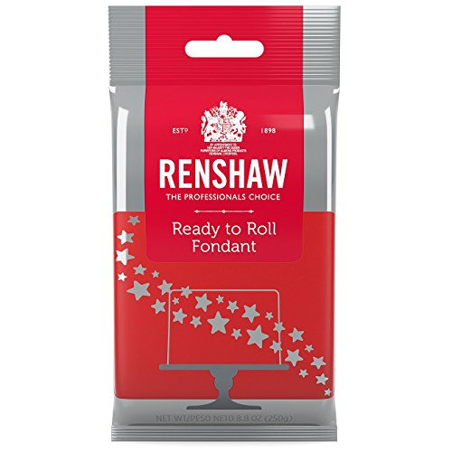 Ready to Roll Fondant Icing Red 8.8 Ounces by Renshaw -