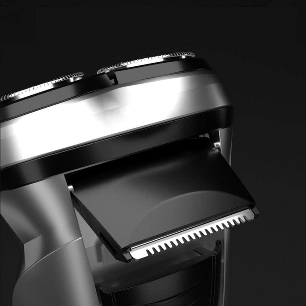 Maquinilla de afeitar portátil 3D, recarga, USB, afeitado ...
