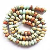 A Strand Snake Skin Jasper Rondelle Loose Bead 15.5 Inch