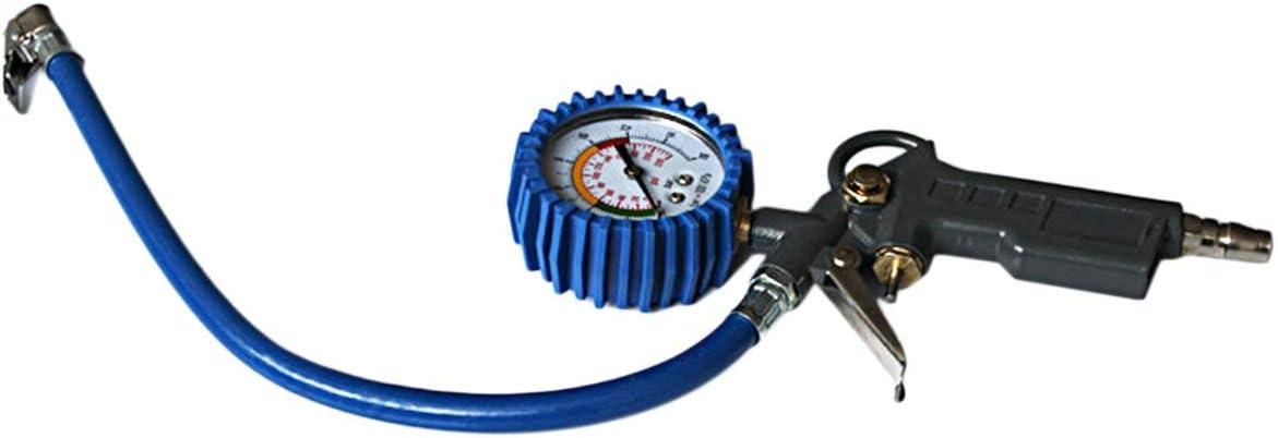 Outil multifonctionnel de surveillance de pistolet de gonflage de pneu de testeur de gonfleur de pression de pneu dair de camion de voiture multifonctionnel couleur: bleu et noir