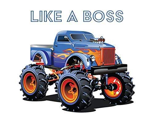 Amazon Com Monster Truck Like A Boss Motivational Art Print 11x14 Unframed Photo Poster Fun Gift For Those Who Love To Trucks Perfect For The Dorm Game Room Garage Office Poster