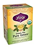 Yogi Teas Pure Green, 16 Count (Pack of 6)