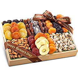 Golden State Fruit Fathers Day Pacific Coast Deluxe Dried Fruit Tray with Nuts Gift