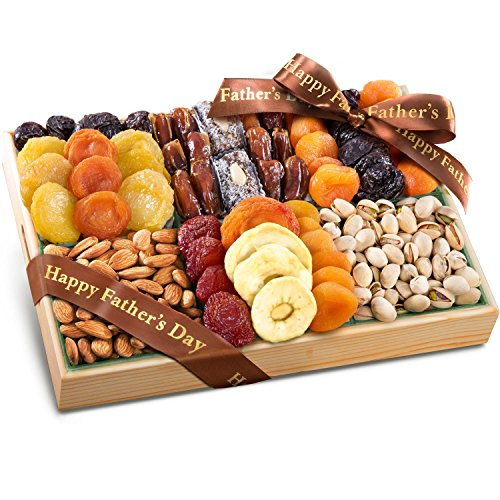 Dried Tray Fruit Deluxe (Golden State Fruit Fathers Day Pacific Coast Deluxe Dried Fruit Tray with Nuts Gift)
