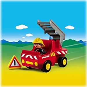 Playmobil 1.2.3 Fire Engine