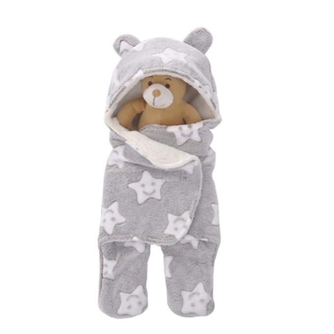 1134711e4 Amazon.com: Newborn Coral Fleece Swaddle Wrap Baby Wrap Blanket Star ...