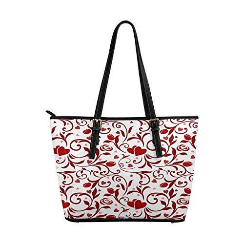 - InterestPrint Top Handle Satchel HandBags Shoulder Bags Tote Bags Purse Valentines Pattern