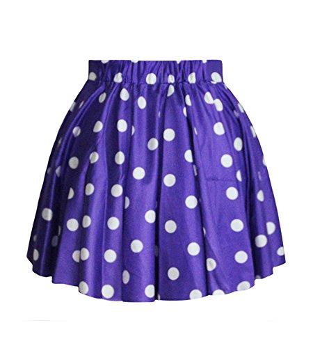 Jupe Bleu Dot Des Mini Plisse Molly Fonc Short Tutu Jupes Femme zq0wO51