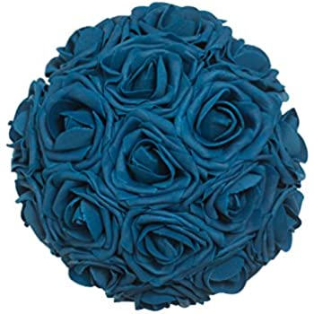 Lings Moment Artificial Flowers Navy Blue Roses 50pcs Real Looking Fake W Stem For