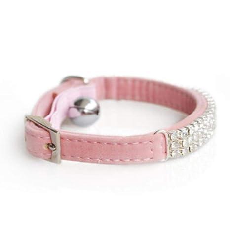 Daeou Collar de Perro PU Collar Gato Diamante y Productos para Perros, 30 * 1cm
