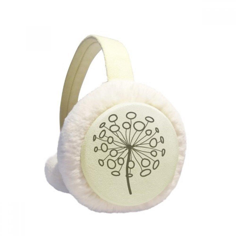 Ornamental Flower Plants Dandelion Winter Earmuffs Ear Warmers Faux Fur Foldable Plush Outdoor Gift