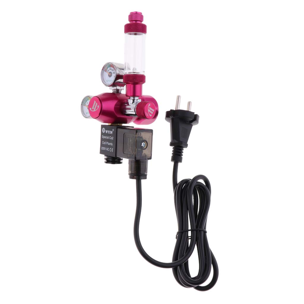 Rose rouge perfk Double Jauge D/étendeur Co2 pour Gaz de Protection CO2 d Aquarium