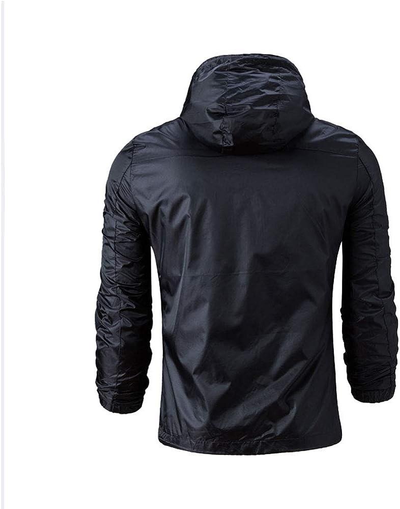 Leidenburg Mens Rain Jacket Waterproof Windbreaker Lightweight Raincoats with Hooded for Outdoor