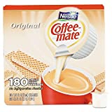 Coffee-mate 753032 Liquid Coffee Creamer, Original, 0.375 oz Mini-Cups, 180 per Box