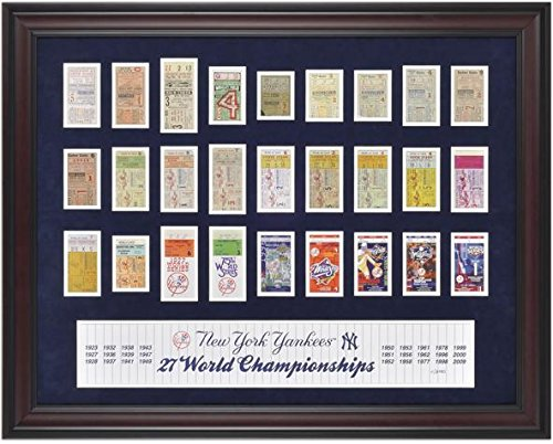 Yankees Framed 27-Time Champs Replica Ticket Collage - MLB Ticket Plaques and Collages