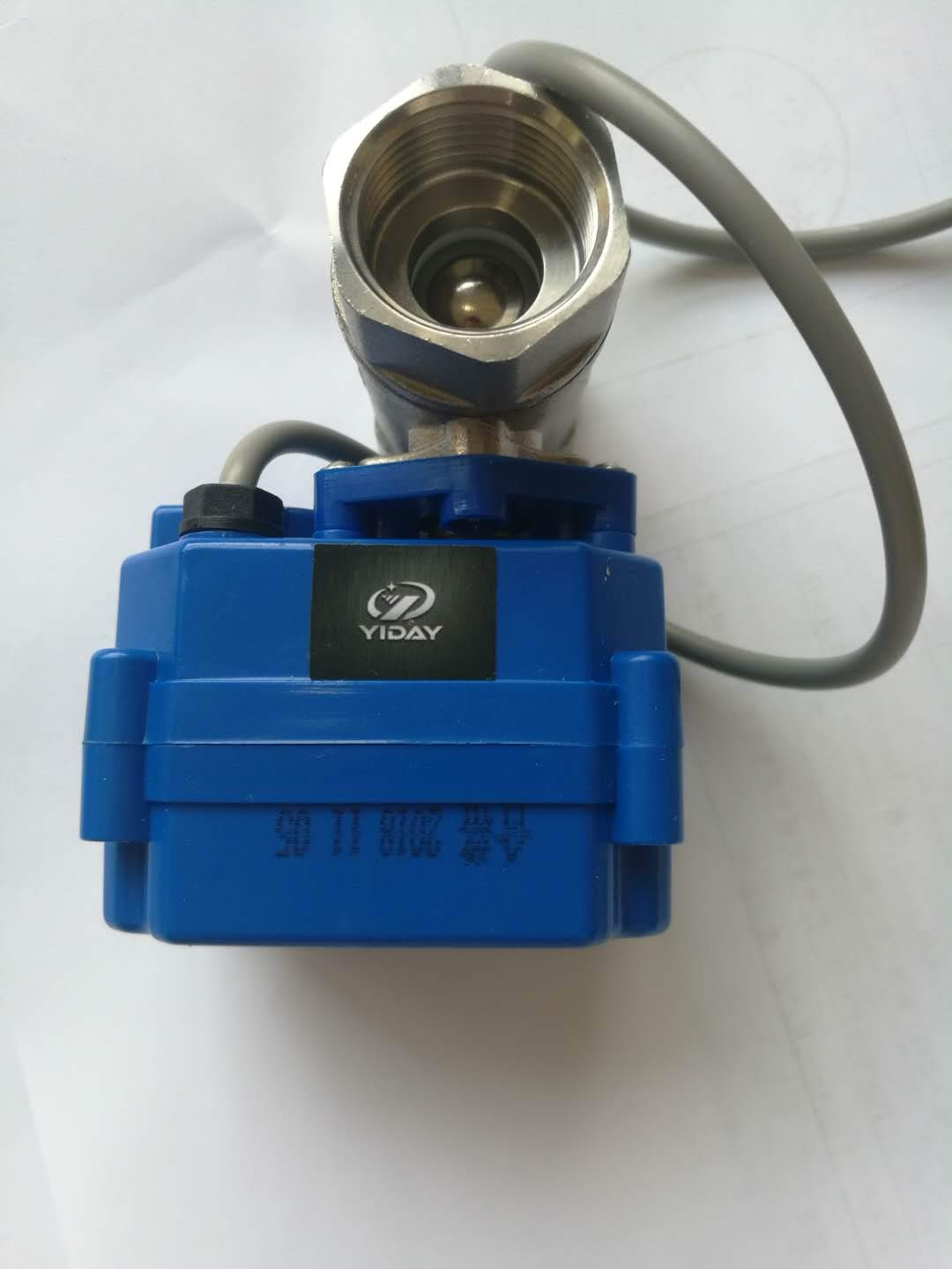 3//4 SS304 Ball Valve with Full Port Mini Motorized Ball Valve AC//DC 9-24V and CR02 3 Wire