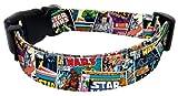 "Star Wars Comic Book Collage Design Style Dog Collar 8""-12"" x 5/8"""