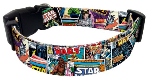 "Star Wars Comic Book Collage Design Style Dog Collar 8""-12"" x 5/8"""